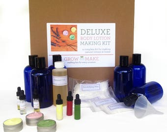 Deluxe DIY Body Lotion Making Kit - Learn how to make home made skin care
