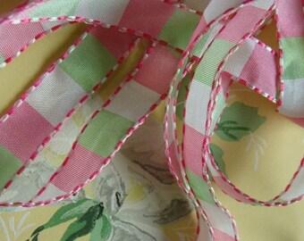 Sweet Vintage Feminine Pink and Mint Green Girly Girl  Ribbon