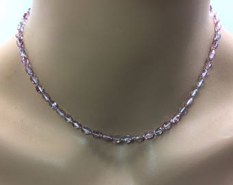 Mystic Pink Topaz Necklace in Sterling Silver