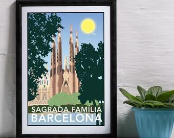 Sagrada Familia, Barcelona Spain Print