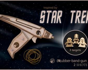 Boyfriend Gift, Star Trek Inspired Phaser, Wooden Rubber Band Gun, Men's Gift. Geekery Gift, Husband, Boyfriend. Christmas Gift For Him