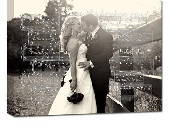 First Dance Wedding Sheet Music Notes/ First Dance Wedding Sheet Music/ Old Music Sheet/ Vintage Wall Sign