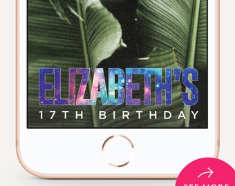 Birthday Snapchat Filter, Birthday Snapchat Geofilter, Party Snapchat, Birthday Geofilter, Snapchat Geofilter - Galaxy Design