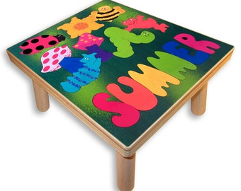 NAME PUZZLE STOOL | Bugs/ Insects