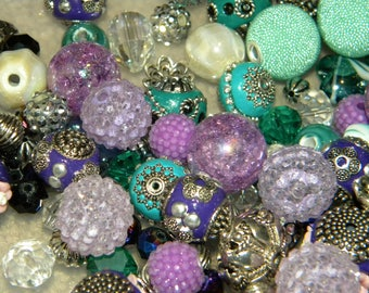 NEW 20/pc Purple/Green/Teal MIX  Jesse James Loose Assorted Random Mixed Bag of different