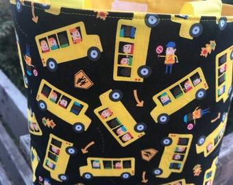School Bus Theme Tote Bag