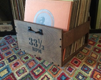 Stained LP Crate (with Customizable Options)