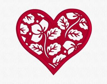 Heart, Love, Wedding, Valentine, Valentine's Day -  Embroidery Design, Machine Embroidery, Digitized File