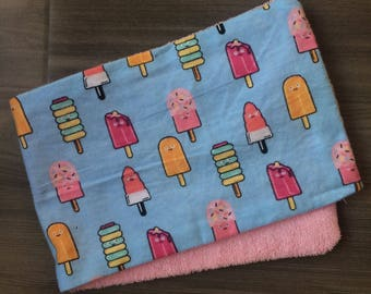 Popsicle Burp Cloth | Newborn, Nursing, Baby Shower, Gift Idea