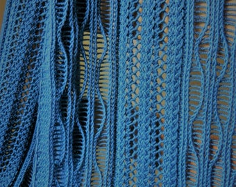 Pattern to knit DK Weight Lace Scarf Three Quarter Time