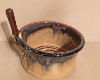 Blueberry Ceramic  Pottery -Cheese Ball --or --Dip or spread-- pottery  bowl