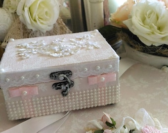 Box wipes cleansing powder pink shabby