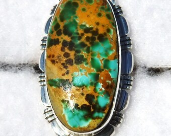 NATURAL ROYSTON TURQUOISE Ring   #1056-tb