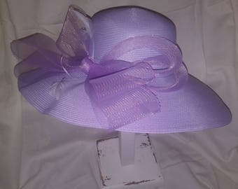 1.00 shipping for march Lavender big brimmed beautiful hat