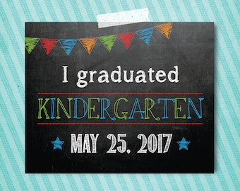 Kindergarten Graduation photo prop 8x10