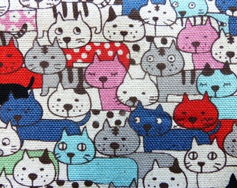 1/2 yard - Little cats, Kobayashi, Japanese import