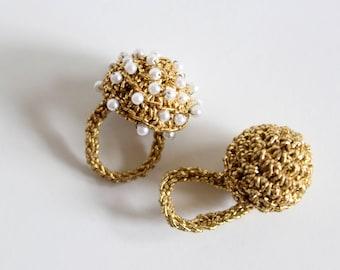 Fun Retro set of Crochet Rings
