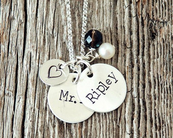 Especially For Mom Two Name Custom Necklace, Personalized Mommy Necklace, Personalized Gift Ideas, Push Presents, Two Name Necklace