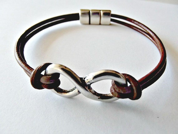 Infinity leather bracelet infinity jewelry love bracelet