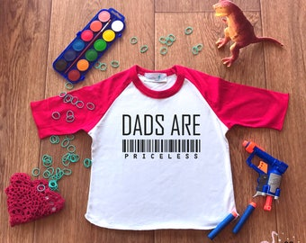 Dad Gift,Dads Are Priceless,Christmas Gift for Dad,New Dad Shirt,New Dad Gift,Toddler T shirts,Daddy Biggest Fan,Daddy Boy,Daddy T-shirt