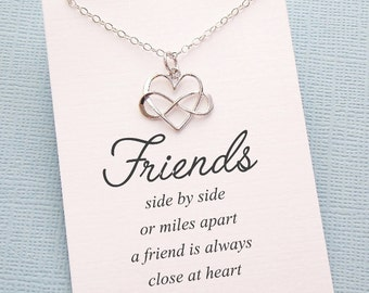 Friendship Necklace | Infinity Necklace, Best Friend Gift, Best Friend Necklace, Friends Friendship Gift, Best Friend Birthday Gift | F04