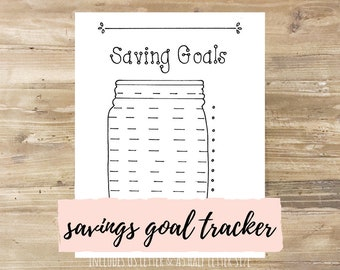 Savings Goals: Bullet Journal Printable
