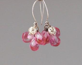 Pomegranate Berry earrings