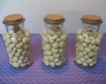 10 280ml Glass Bottles With Corks.  Favor Jars. Wedding Favor Jars. Decorative Jars With Lids. Glass Bottles With Stoppers. Bitty Bottles.