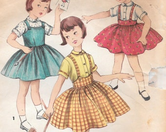 Sz 5-1950's Jumper, Skirt and Blouse Simplicity 1702