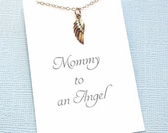 Miscarriage Necklace | Angel Wing Necklace, Infant Loss Jewelry, Sympathy Gift, Loss of a Child, Miscarry Gift, Condolence | R02