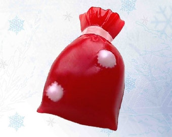 Santa Claus's Gift Bag Soap-Christmas Soap-Glycerin,Goat's Milk,Shea Butter,Grape Seed Oil
