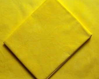 Sun Yellow Hand Dyed Quilting Cotton Fat Quarter