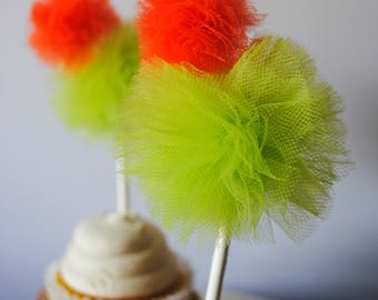Cactus Tulle Poms -Tulle pom pom- Tulle poms- Cinco De Mayo - Boho