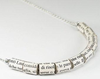 Paper Bead Jewelry- Italian Upcycled Paper Bead Necklace, Italian Jewelry, Paper Jewelry by Tanith Rohe