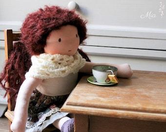 Mia * Curly Auburn Hair Waldorf Doll 12,5 inches / 32cm