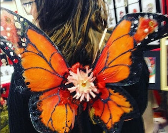 Monarch Butterfly Hand-Painted fairy wings