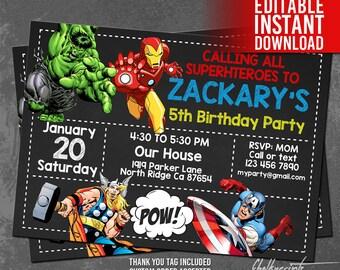 The Flash Invitation Instant Download Flash Invitations