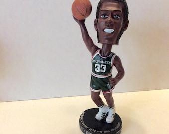 Kareem Abdul Jabbar bobble head Milwaukee Bucks rookie year MVP. Free ship to US
