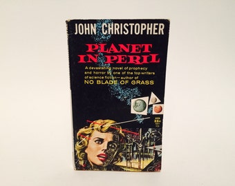 Vintage Sci Fi Horror Book Planet In Peril by John Christopher 1959 Paperback