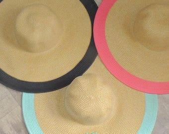 Monogrammed Wide Outline Floppy Hat