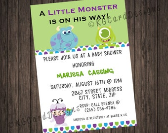 Monsters inc baby shower invitations etsy monsters inc baby shower invitation filmwisefo Image collections