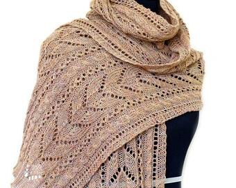 Knit shawl pattern, knitting pattern, Leola wrap, Lace shawl, lace stole, knitted shawl, tutorial, pattern, PDF