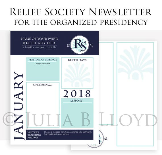 relief society newsletter template Newsletter Template LDS Relief Society Presidency organized