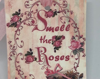 Rose Gift Tags, Rose Tags, Shabby Chic Tags , Soft Pink Tags , Pink Roses , Vintage Rose , French Tags , Vintage INSPIRED Gift Tags