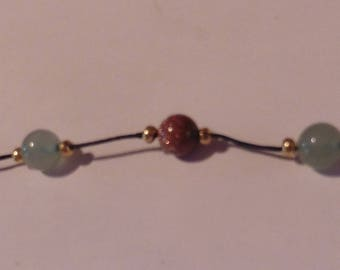 Aventurine and Sunstone bracelet