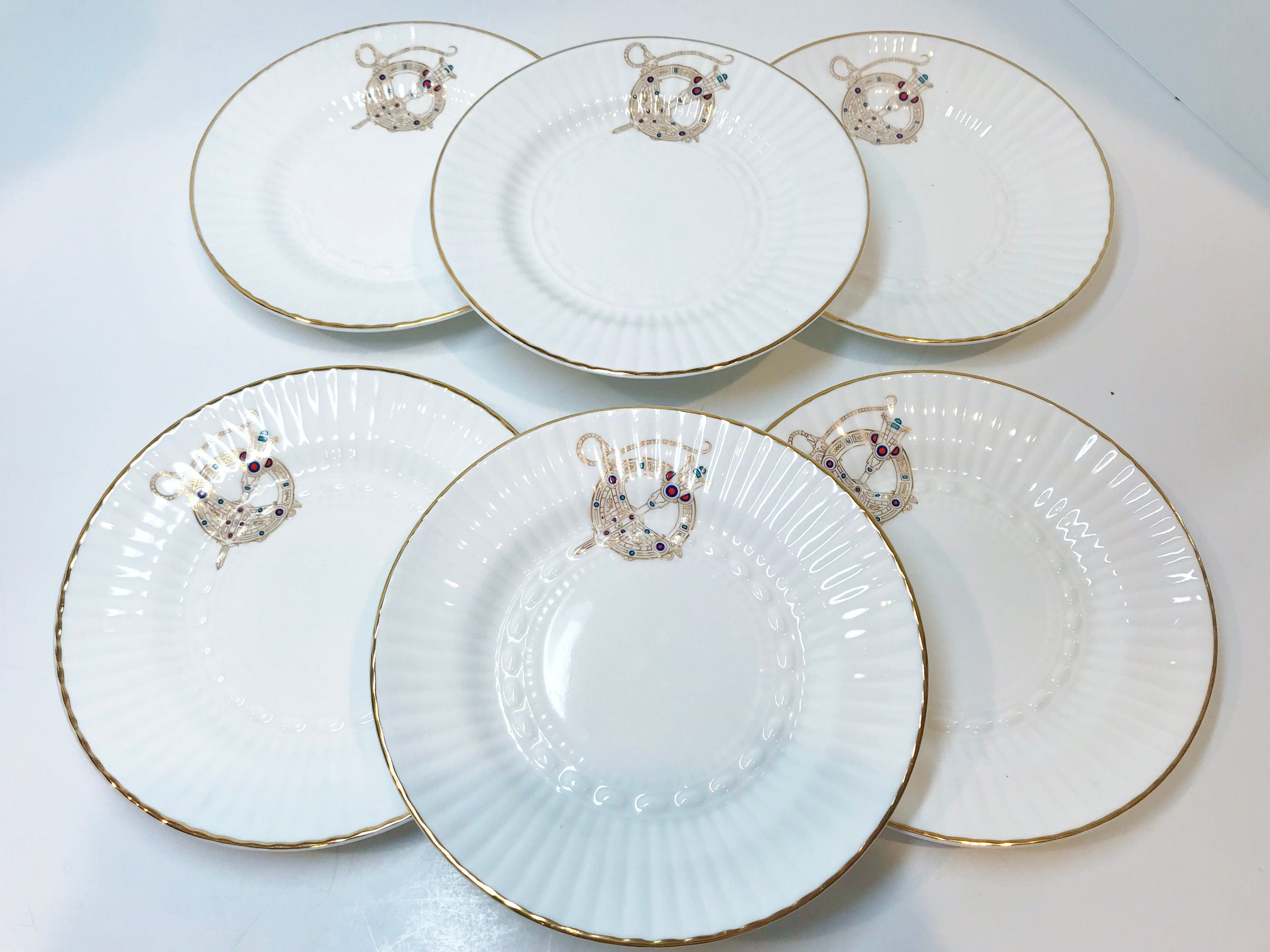 Royal Tara Set of 6 Plates Tara Brooch Pattern Irish Plates Ireland Plates Bone China Plates Wall Decor Tea Set Made in Ireland & Royal Tara Set of 6 Plates Tara Brooch Pattern Irish Plates ...