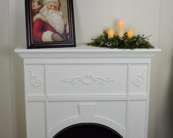 Christmas Mantel Swag, christmas swag, holiday mantel swag, holiday mantel decor, christmas mantel decor