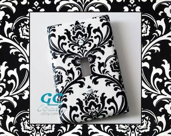 Black White Damask Light Switch and Outlet Covers in 6 Different Prints -  Room Decor, Rocker, Toggle, Duplex, Plug