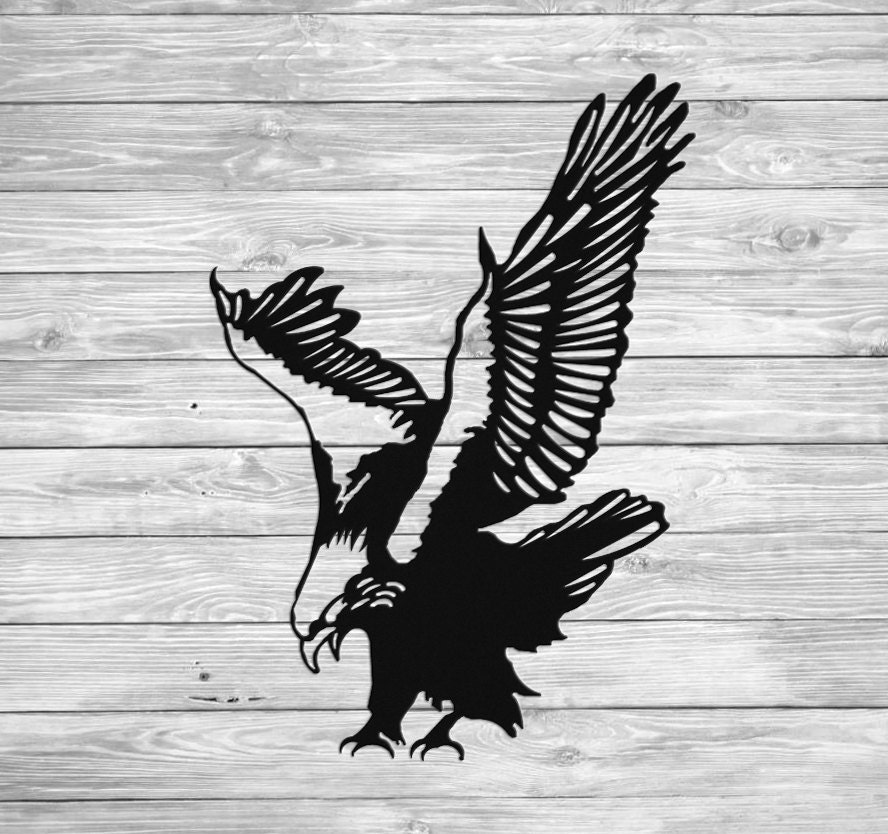 Águila calva americana del colgante de pared Metal arte