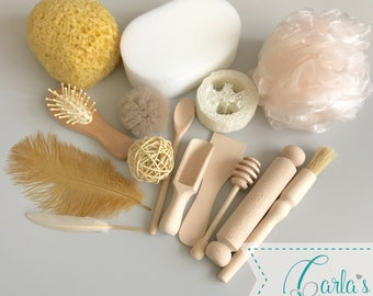 Treasure basket / top up collection / sensory rich objects / Montessori
